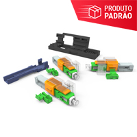 KIT DE 50 CONECTORES OPTICOS DE CAMPO SM SC-APC EZ! CONNECTOR PARA CABOS FLAT 1.6X2MM E 3X2MM