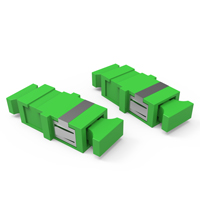KIT DE ADAPTADORES OPTICOS 01F SM SC-APC - VERDE (KIT 06 PCS)