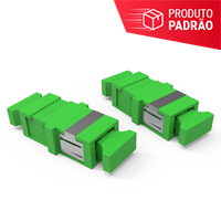 KIT DE ADAPTADORES OPTICOS 01F SM SC-APC - VERDE (KIT 02 PCS)