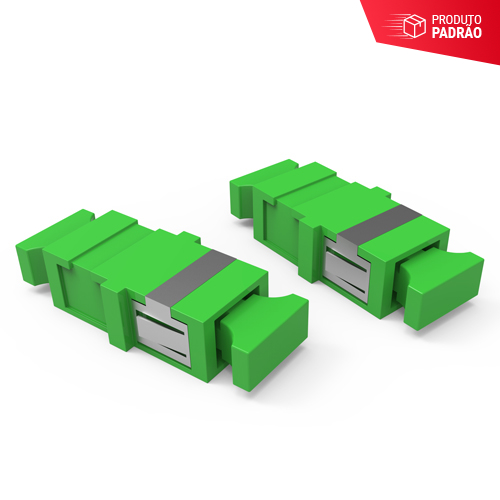 KIT DE ADAPTADORES ÓPTICOS 01F SM SC-APC - VERDE (KIT 08 PCS)